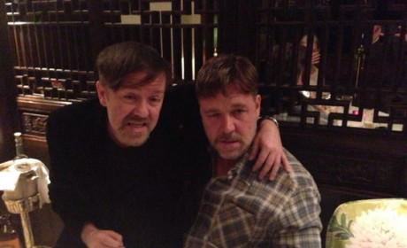 Ricky Gervais and Russell Crowe