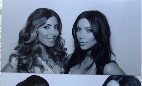 Kim Kardashian at Her Bridal Shower