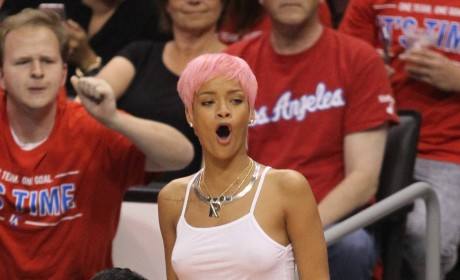 Rihanna Pink Hair Photo