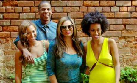 Beyonce, Solange Knowles, Jay Z and Tina Knowles