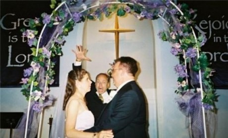 Pastor Photobombs Wedding Couple: He Objects?