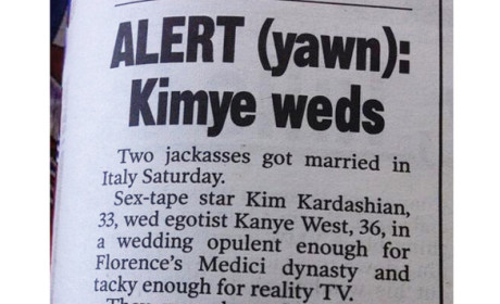 Kimye Wedding Article