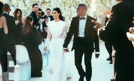 Kim Kardashian and Kanye West Wedding Pic