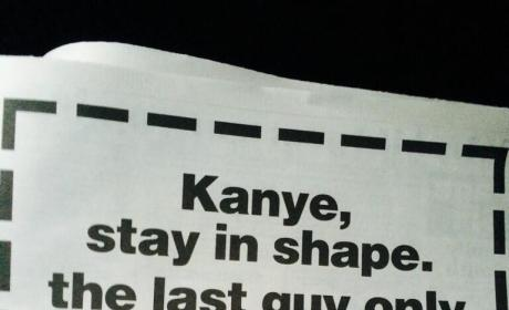 New York Gym Taunts Kanye: Don't Be Like Kris Humphries!