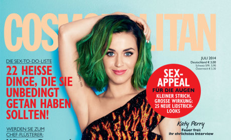 Green Haired Katy Perry