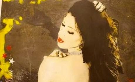 """Kanye West Gives Kim Kardashian Naked """"Perfect B-tch"""" Painting"""