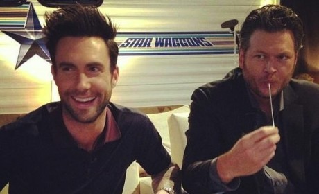 Adam Levine and Blake Shelton
