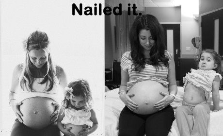 Pregnant Mother Tries, Hilariously Fails to Recreate Pinterest Photo