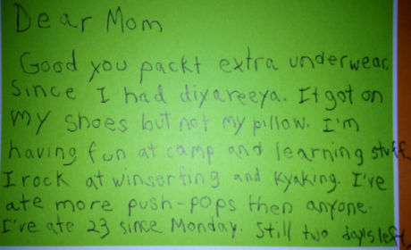 Kid Writes Home From Camp, Regales Mom With Tales of Epic Experiences, Dumps