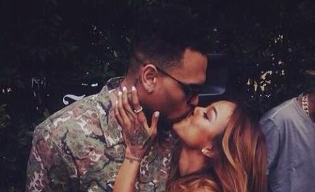 Chris Brown, Karrueche Tran Kiss