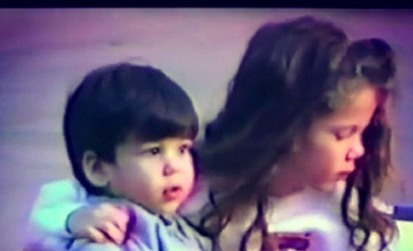 Khloe Kardashian and Rob Kardashian as Kids