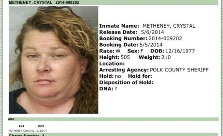 Woman Actually Named Crystal Metheney Gets Arrested in Florida