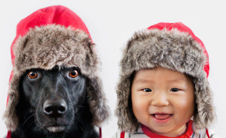 Toddler and Dog Don Same Silly Outfits: Click Through the Cuteness!