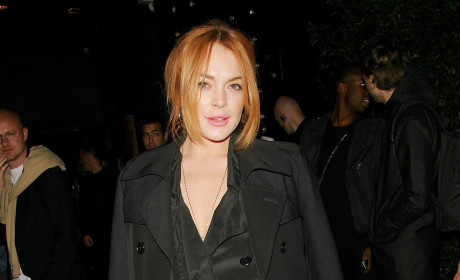 Lindsay Lohan Touches Herself