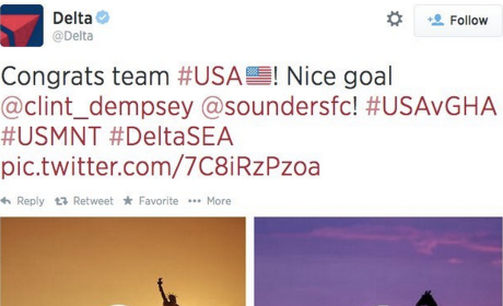 Delta Tweets Congratulations to World Cup Soccer Team, Thinks Giraffes Reside in Ghana