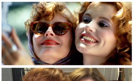 Susan Sarandon and Geena Davis Honor Thelma & Louise, Recreate Iconic Selfie