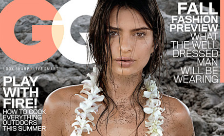 Emily Ratajkowski: Topless, Nearly Bottomless for GQ!