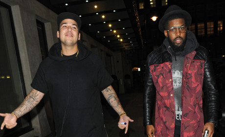 Rob Kardashian with a Friend