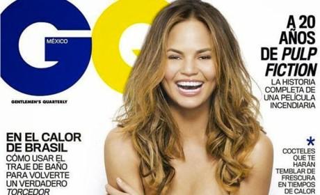 Chrissy Teigen Topless Photoshop Fail: Where's Her Nipple?!