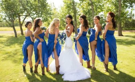Bridal Parties Flash Butts in Wedding Photos: Make It Stop!
