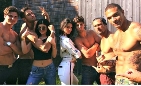 Kendall and Kylie Jenner Party With Grown, Shirtless Men in the Hamptons