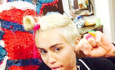 Miley Cyrus Gets Silly