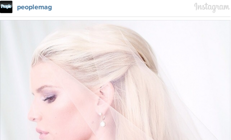 Jessica Simpson Wedding Dress: FIRST LOOK!