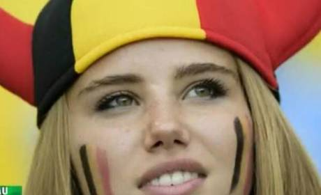 Axelle Despiegelaere, HOT Belgium Soccer Fan, Lands L'Oreal Commercial