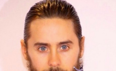 Jared Leto Hugs Himself
