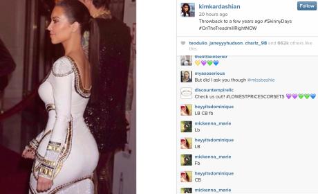 Skinny Kim Kardashian