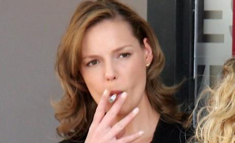 Katherine Heigl Smoking