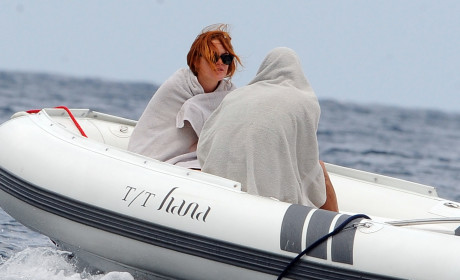 Lindsay Lohan Covers Up