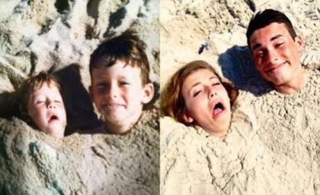 21 Grown-Ups Reenacting Childhood Pics