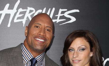 Lauren Hashian Poses with Dwayne Johnson at Hercules Premiere: See the Pics!