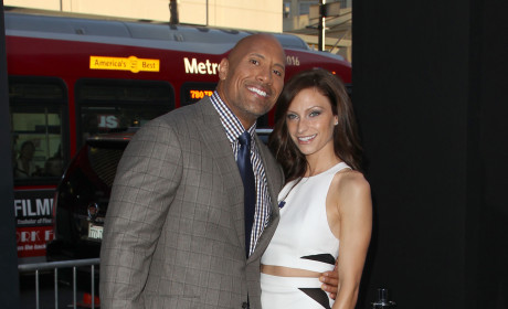 Lauren Hashian and Dwayne Johnson Photo