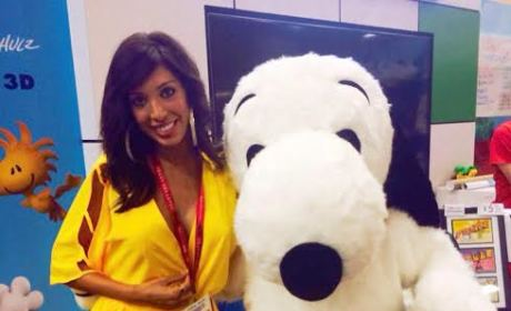 Farrah Abraham With Snoopy