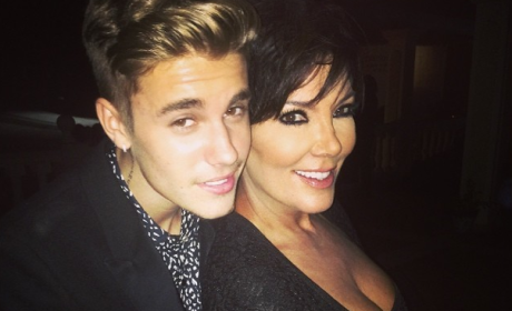 Justin Bieber and Kris Jenner
