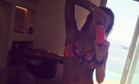 Lindsay Lohan Bikini Selfie
