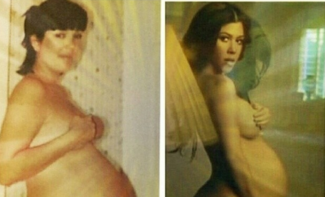 Kourtney Kardashian: Nude and Pregnant... Just Like Mom!