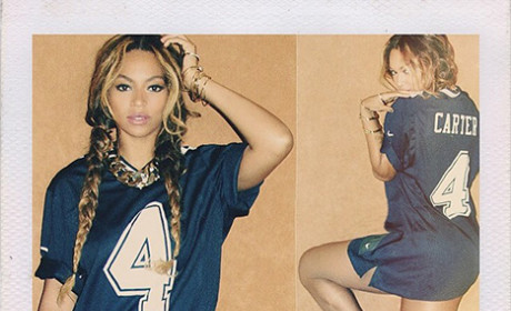 "Beyonce Rocks ""Carter"" Jersey, Eschews Pants, Seeks to End Divorce Rumors"
