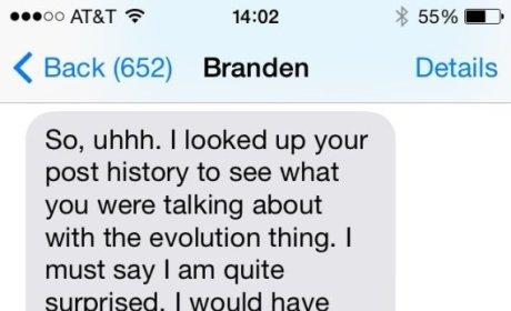 Awkward Text Message Exchange