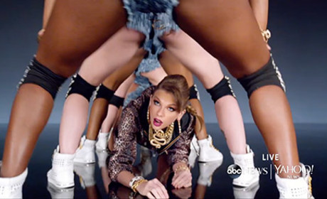 Taylor Swift on All Fours