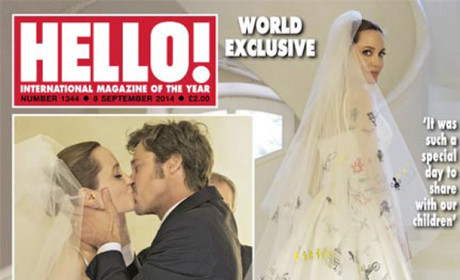 Angelina Jolie and Brad Pitt Wedding Photo