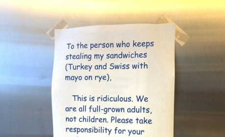 Office Fight Over Sandwich Leads to Epic, Passive-Aggressive Exchange of Notes