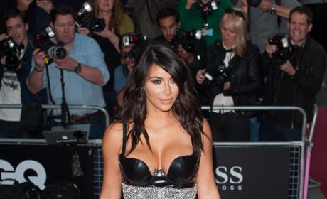 Kim Kardashian in Beaded Dress