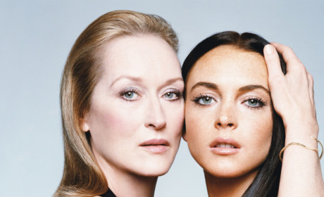Lindsay Lohan and Meryl Streep Photo