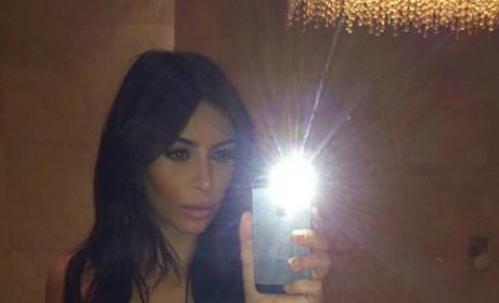 Kim Kardashian Breasts Selfie