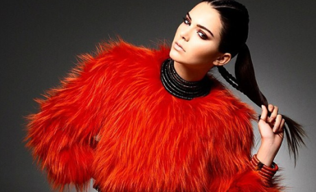 Kendall Jenner in Faux Fur