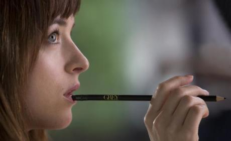 Dakota Johnson as Anastasia Steele: New Fifty Shades of Grey Photo!