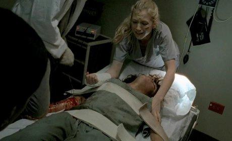 Beth on The Walking Dead